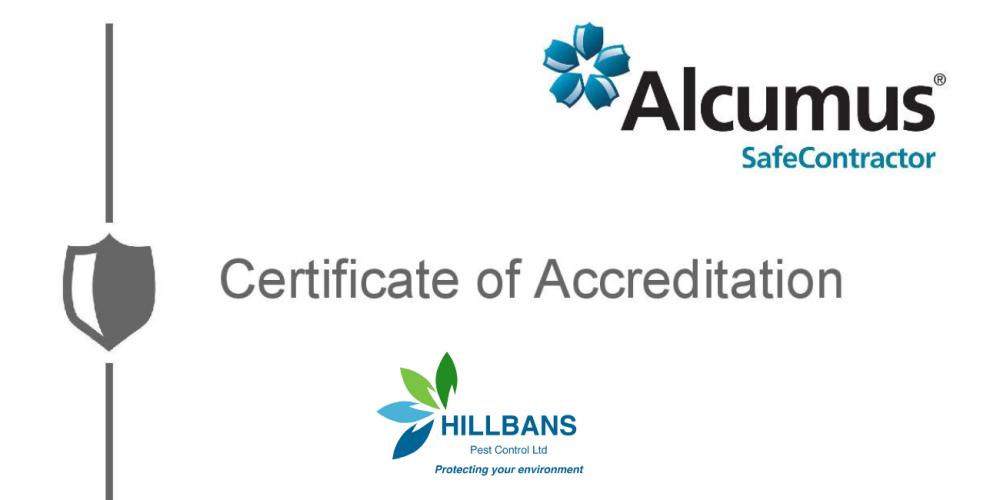 Hillbans Retain Alcumus Safe Contractor Accreditation